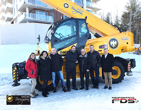Delivery of the first Dieci Pegasus 45-30 to the Groupe Bourgouin Inc.